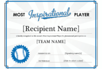 Leadership Award Template – Blue Layouts intended for Outstanding Student Leadership Certificate Template Free