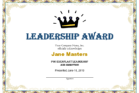 Leadership Award Templates | Certificate Template Downloads with regard to Fresh Leadership Award Certificate Template