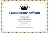 Leadership Award Templates | Certificate Template Downloads within Unique Leadership Award Certificate Templates