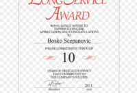 Long Service Award Certificate Template Free Forte – Long intended for Long Service Award Certificate Templates