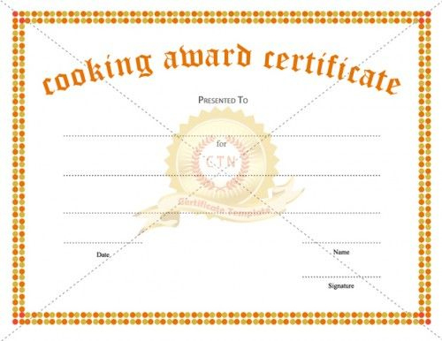 Looking For A Cooking Award Certificate Template For Regarding Unique Cooking Competition Certificate Templates