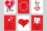 Love Cards Set 7 in Valentine Gift Certificates Free 7 Designs