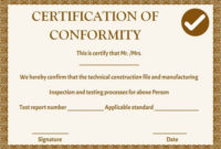 Manufacturing Certificate Of Conformance Templates | Free with regard to Fresh Certificate Of Conformity Template Ideas