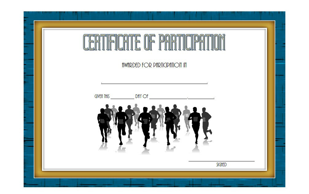 Marathon Participation Certificate Template Free 1 In 2020 pertaining to Fresh Marathon Certificate Templates