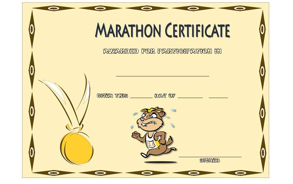 Marathon Participation Certificate Template Free 4 Di 2020 With Regard To Marathon Certificate Template 7 Fun Run Designs