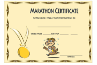 Marathon Participation Certificate Template Free 4 In 2020 intended for Fresh Finisher Certificate Templates