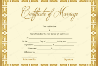Marriage Certificate 10 – Word Layouts | Marriage inside Marriage Certificate Template Word 10 Designs