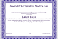 Martial Arts Certificate Templates – 10 Free Sample inside Best Karate Certificate Template