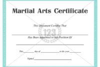 Martial Arts #Certificate #Templates | Art Certificate for Martial Arts Certificate Templates