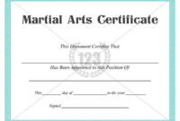 Martial Arts #Certificate #Templates   Art Certificate with regard to Fresh First Aid Certificate Template Top 7 Ideas Free