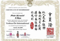 Martial Arts Certificates Free Fresh 30 Martial Arts Throughout Free 24 Martial Arts Certificate Templates 2020
