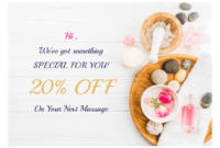 Massage Gift Certificate Template – Pdf Templates | Jotform within Spa Gift Certificate