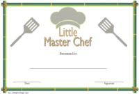 Master Chef Certificate Template Free 1 In 2020 within Chef Certificate Template Free Download 2020