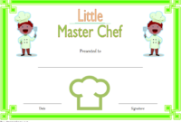 Master Chef Certificate Template Free 3 In 2020 with Chef Certificate Template Free Download 2020