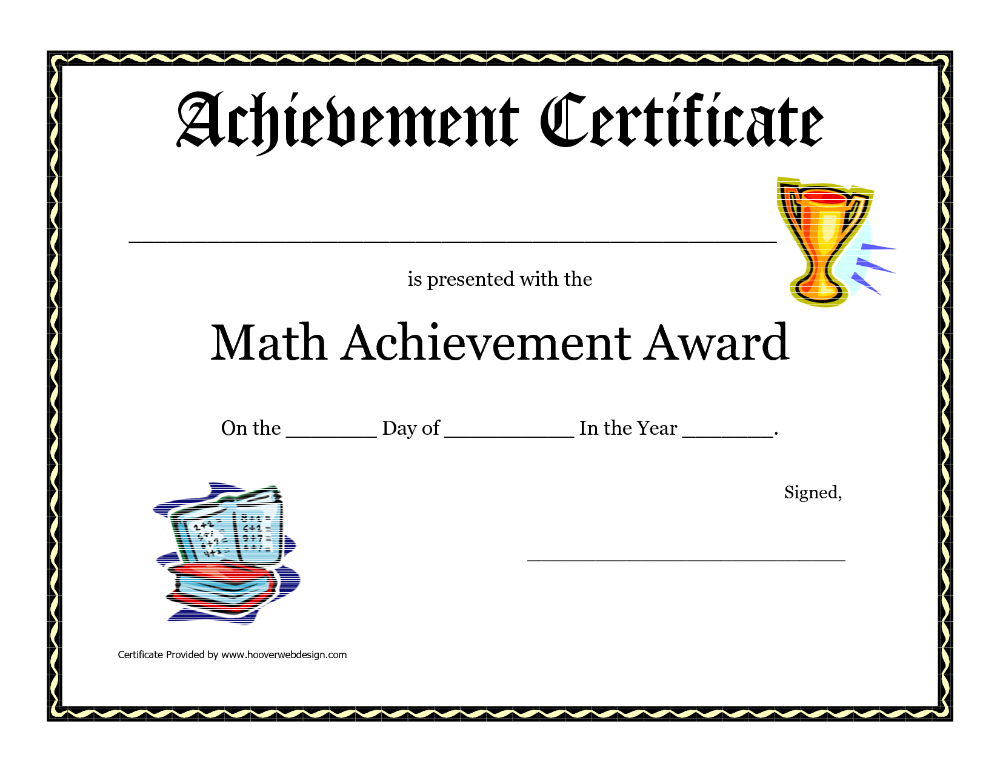 Math Achievement Award Printable Certificate Pdf Math Throughout Fresh 10 Science Fair Winner Certificate Template Ideas