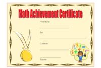 Math Achievement Certificate Template 5 Free regarding Math Achievement Certificate Templates