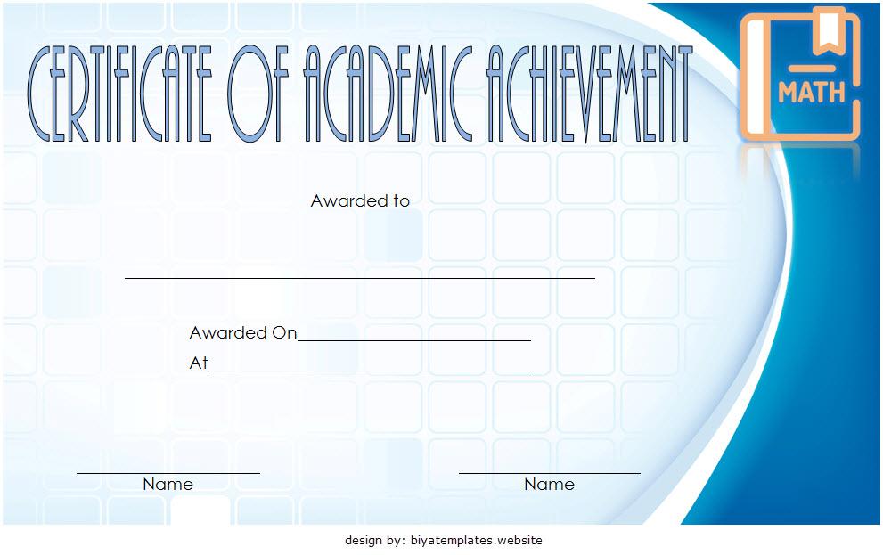 Math Achievement Certificate Template 7 Free Download in Fresh Math Certificate Template 7 Excellence Award