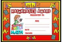 Math Awards Certificates | Teaching Math, School Award intended for Fresh Math Award Certificate Templates