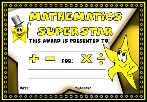 Math Awards Certificates Throughout Math Achievement Certificate Printable