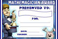 Math Awards Certificates with Fresh Math Certificate Template 7 Excellence Award