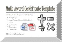 Math Certificate Free Template | Certificate Templates intended for Math Certificate Template 7 Excellence Award