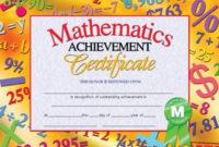 Mathematics Achievement Certificate, H-Va681 | Certificate regarding Fresh Math Achievement Certificate Templates