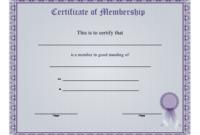 Membership Certificate Printable Certificate | Certificate with regard to Blessing Certificate Template Free 7 New Concepts