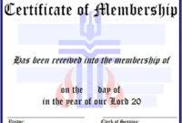 Membership Certificate Template 7 | Certificate Templates throughout Membership Certificate Template Free 20 New Designs