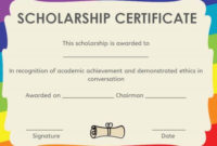 Memorial Scholarship Certificate Template | Awards for Fresh 10 Scholarship Award Certificate Editable Templates