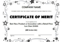 Merit-Award-Business-Certificate-Template with Fresh Merit Award Certificate Templates