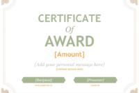 Merit Award Certificate Template pertaining to Fresh Merit Award Certificate Templates