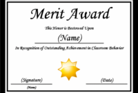Merit Certificate Template | Certificate Templates pertaining to Best Certificate Of Merit Templates Editable