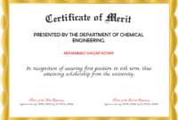 Merit Certificate Template | Certificate Templates regarding Certificate Of Merit Templates Editable