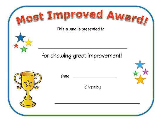 Most Improved Award Certificate | Big Boy Potty, Big Girl Intended For Most Improved Player Certificate Template