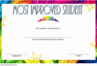 Most Improved Certificate Template Beautiful Most Improved regarding Most Improved Student Certificate