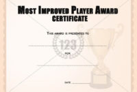 Most Improved Player Award Certificates Templates | Award with Best Most Improved Player Certificate Template