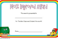 Most Improved Student Award Certificate Template Free 1 in Unique Student Council Certificate Template 8 Ideas Free