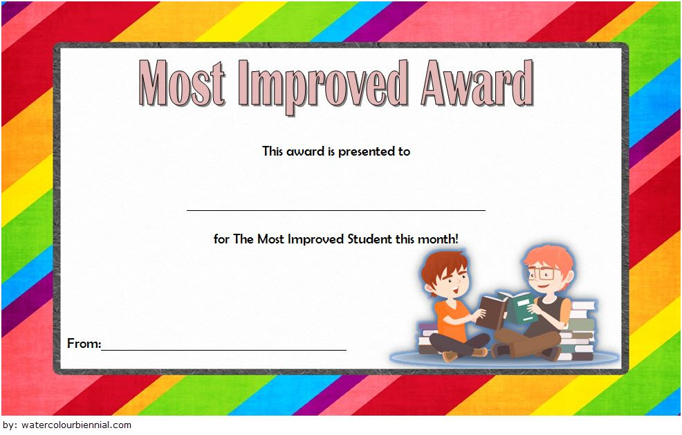 Most Improved Student Award Certificate Template Free 3 With Unique Most Improved Student Certificate