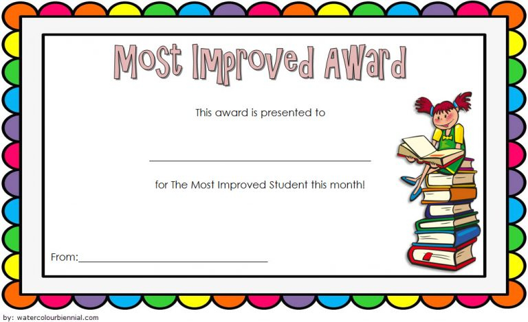 Most Improved Student Certificate Template 2 - Best Throughout Unique Most Improved Student Certificate