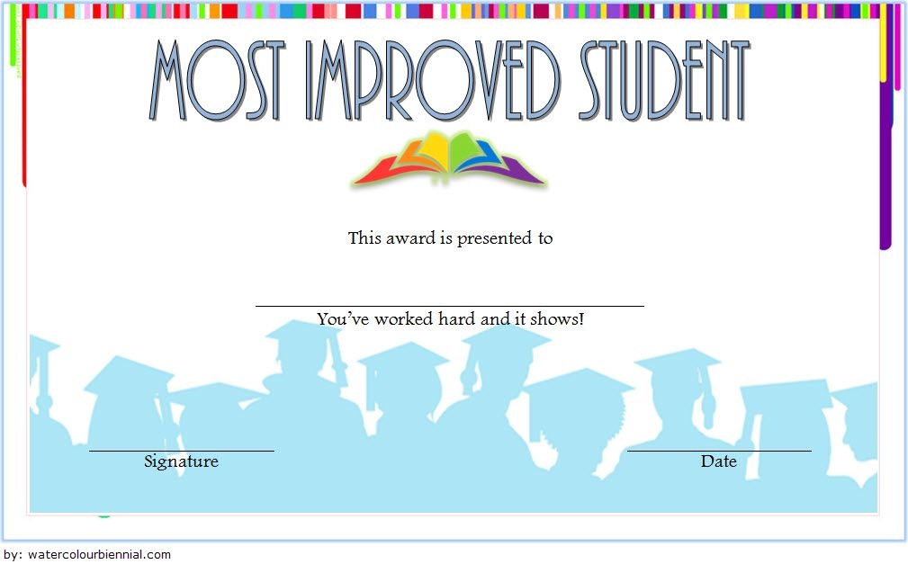 Most Improved Student Certificate Template Free Download 3 Regarding Most Improved Student Certificate