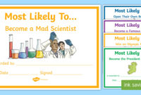 Most Likely To' Award Templates (Teacher Made) for Free Most Likely To Certificate Templates