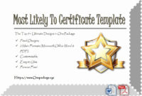 Most Likely To Certificates Unique Most Likely To intended for Best Most Likely To Certificate Template 9 Ideas