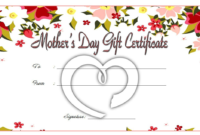 Mothers Day Gift Certificate Template Free Printable 3 regarding Best Mothers Day Gift Certificate Template