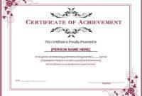 Ms Word Achievement Award Certificate Templates | Word regarding Outstanding Effort Certificate Template
