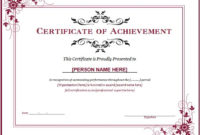 Ms Word Achievement Award Certificate Templates | Word with Fresh Certificate Of Recognition Template Word