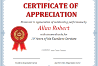Ms Word Certificate Of Appreciation | Office Templates Online within Fresh Certificate Of Recognition Template Word