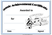 Music Award Certificates | Award Certificates, Awards pertaining to Piano Certificate Template Free Printable