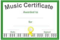 Music Certificate Template – Free And Customizable for Piano Certificate Template Free Printable