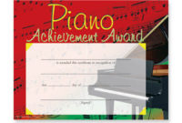 Music In Motion: Colorful Award Certificates Piano in Best Piano Certificate Template Free Printable
