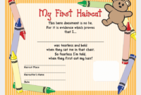 My First Haircut Certificate – Haircuts You'Ll Be Asking For regarding Best First Haircut Certificate